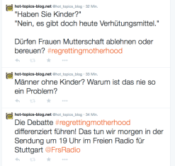 #regrettingmotherhood Twitter-Debatte