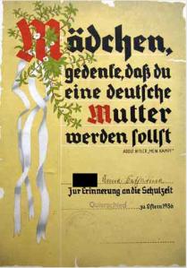 Frau = Mutter im Dritten Reich