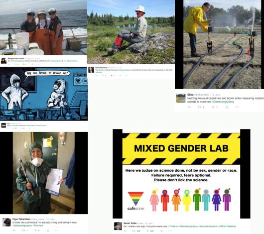 Wissenschaftlerinnen auf der ganzen Welt beweisen Humor mit der Aktion #distractinglysexy gegen Frauenfeindlichkeit i.d. Wissenschaft.